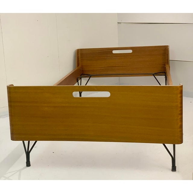 Mid-Century Modern Pair of Beds by Rima and Designed by Gaston Rinaldi - Italy 1950s For Sale - Image 3 of 8