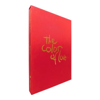 2000s Decorative and Illustrated Folio Book, Marielle Bancou's the Color of Love: An Artist's Book of Poetry and Passion For Sale