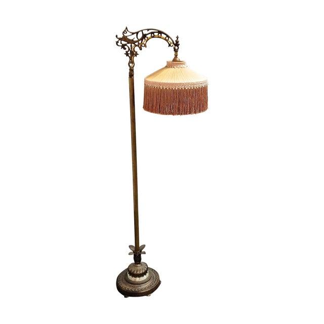 Antique 1930's Bronze Floor Lamp - Image 1 of 8