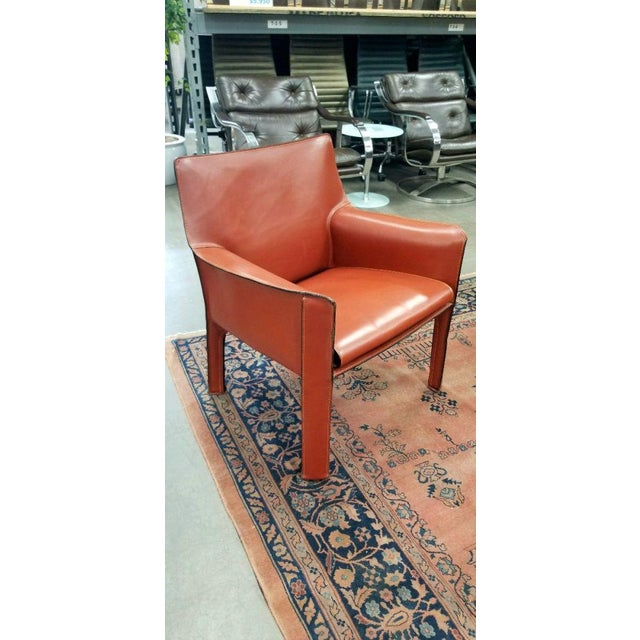 Contemporary 1980s Vintage Cassina Cab Lounge Chair For Sale - Image 3 of 3