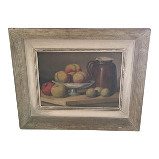 French Fruit Still Life Oil on Canvas