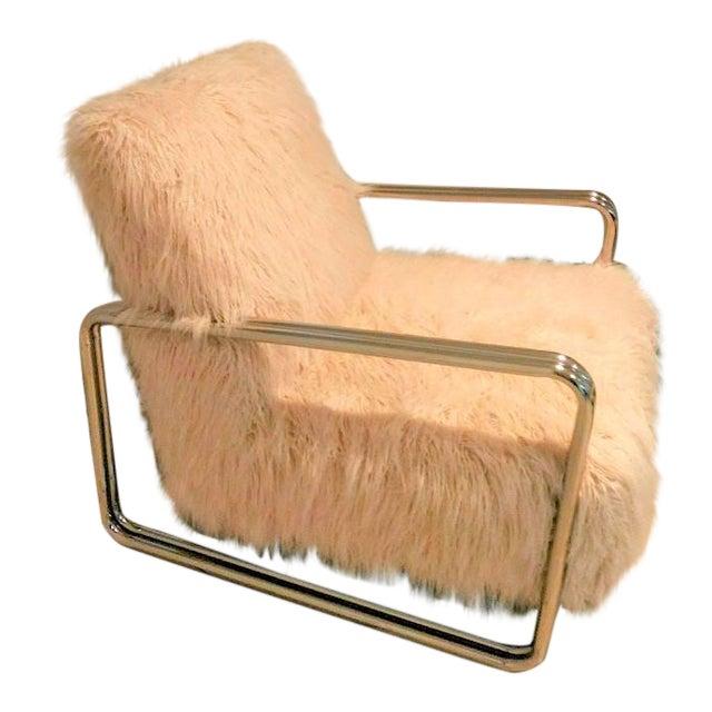 Faux Fur Chair For Sale