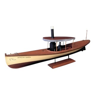 African Queen Wood Model Boat For Sale