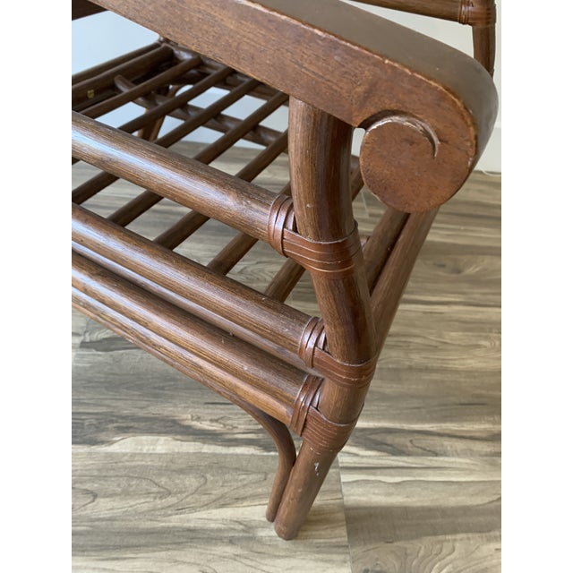 Vintage Mid-Century British Colonial Style Chair For Sale - Image 12 of 13