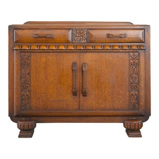20th Century Art Deco Oak Buffet For Sale