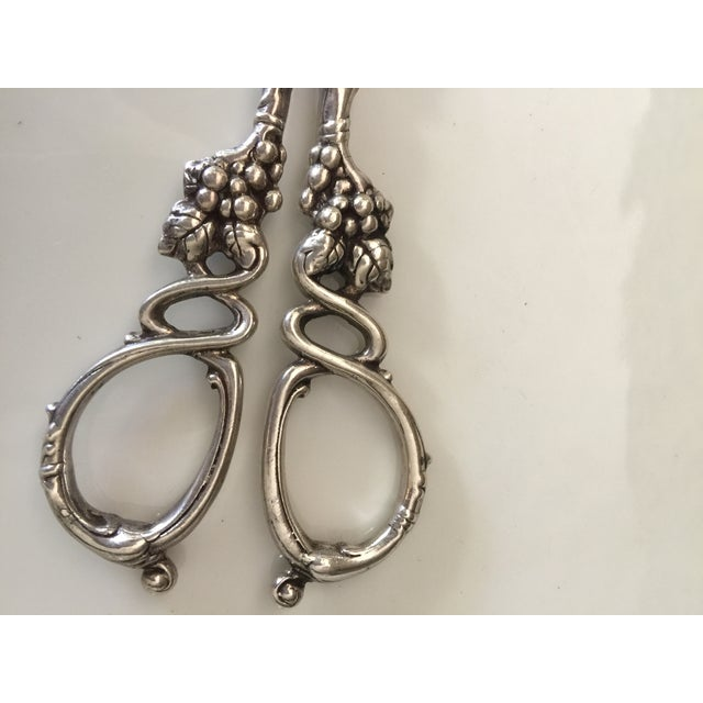 1890's Sterling Silver Grape Scissor Set of Shears For Sale In Los Angeles - Image 6 of 7