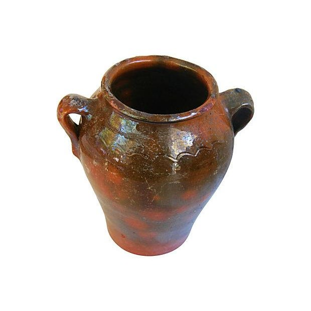 Large French Antique Brown Glazed Confit Pot - Image 5 of 6