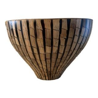 R & Y Augousti Bamboo Bowl Signed, Paris For Sale