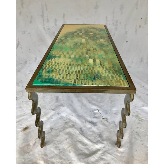 White Studio Made Post Modernist Steel Cocktail Table For Sale - Image 8 of 13