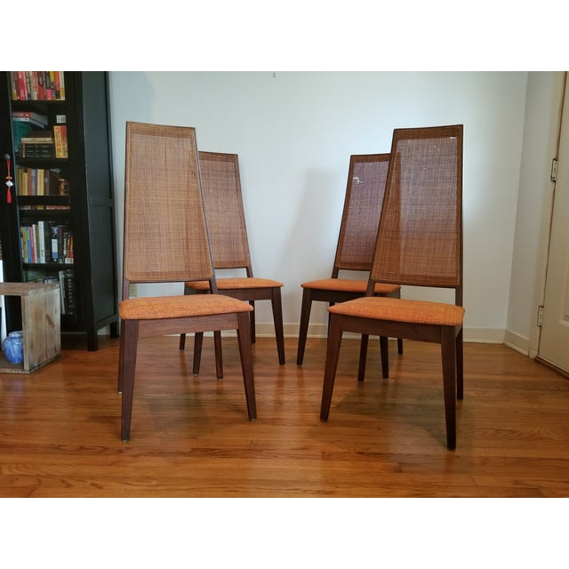 Tempo of California Mid-Century Cane Back Dining Chairs - Set of 4 For Sale - Image 11 of 11