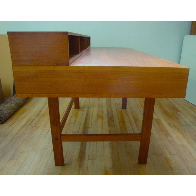 Dansk Lovig Flip-Top Teak Partners Desk or Table For Sale - Image 9 of 10