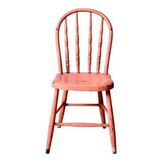 Antique Pink Windsor Chair