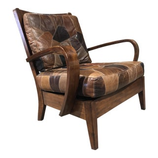 Vintage Patchwork Leather Armchair