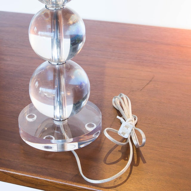 Modern Acrylic Stacked Ball Lamps - A Pair - Image 3 of 5