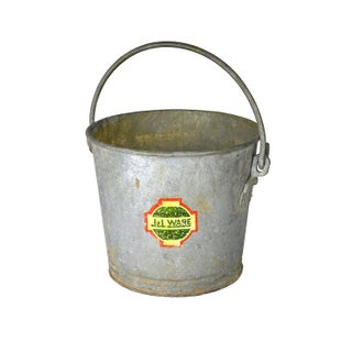 Vintage Galvanized Farm Bucket