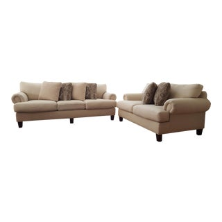 Craftmaster Furniture Sofa & Loveseat with Pillows - A Pair