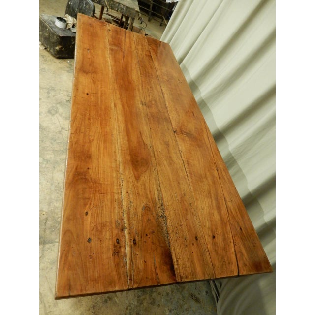 19th Century French Walnut Farm Table For Sale - Image 4 of 10