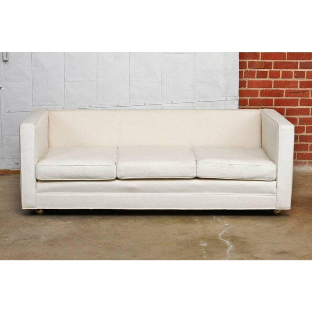 Mid-Century Modern Late 20th Century Baughman Style Upholstered Case Sofa For Sale - Image 3 of 3