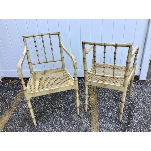 Faux Bamboo Chippendale Style Armchairs - a Pair For Sale In Tampa - Image 6 of 13