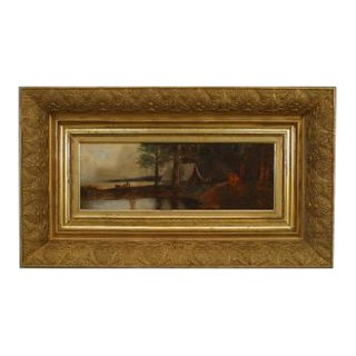 American Victorian (19th Cent) Hudson River School oil painting For Sale