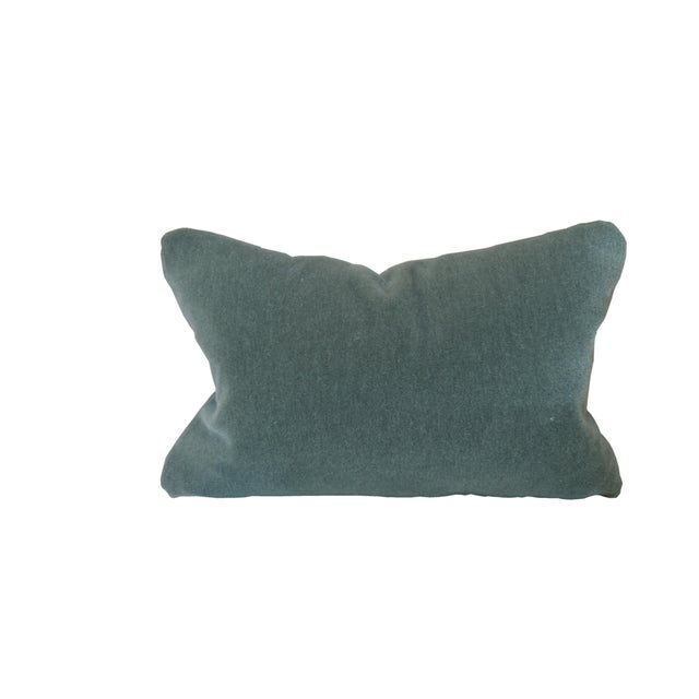 George Smith Custom George Smith Sage Green Mohair Pillow For Sale - Image 4 of 5