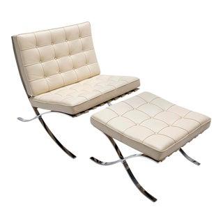 Mies Van Der Rohe Barcelona Chair & Stool