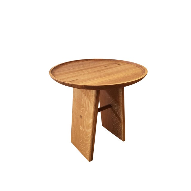 Contemporary White Oak Side Table - Image 1 of 5