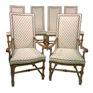 Six Country French High-Back Dining Chairs by Century Furniture North Carolina For Sale