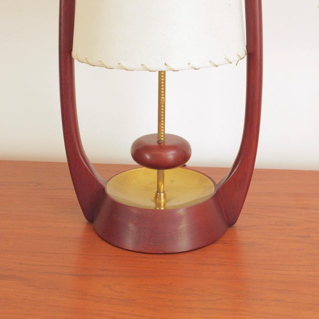 Burnt Umber 1960s Sculptural Lamps by John Keal for Modeline - a Pair For Sale - Image 8 of 13