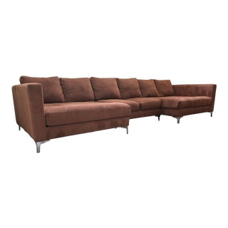 Deep-Seated Sectional Sofa For Sale