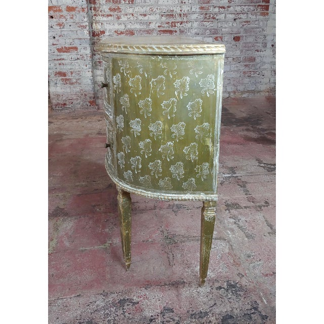 Italian Antique Italian Florentine Demilune Gilt-Wood Commodes -A Pair - For Sale - Image 3 of 10