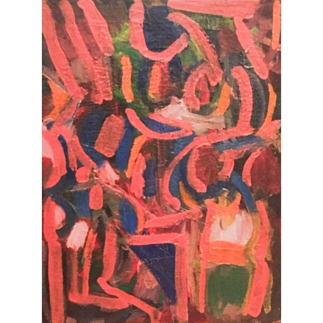 "Circa 1965 United States Mid-Century Modern David Alexick ""Abstract"" Oil on Canvas For Sale"