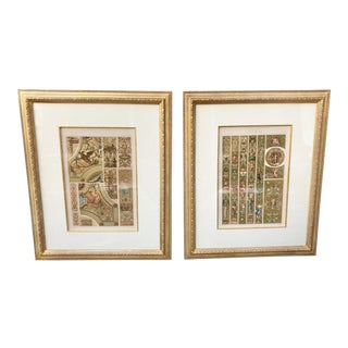 A Pair of 19th Century Baroque P. Gelis Didot Chromolithographs For Sale