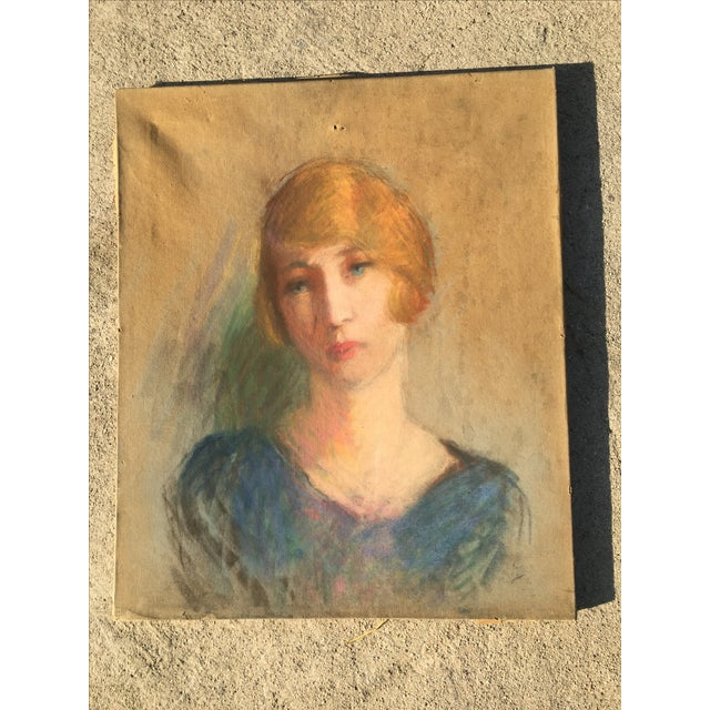 Vintage French Oil Painting Portrait - Image 3 of 10