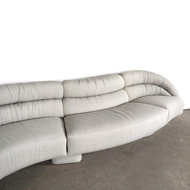 Mid-Century Modern Vladimir Kagan Serpentine Sofa For Sale - Image 3 of 4