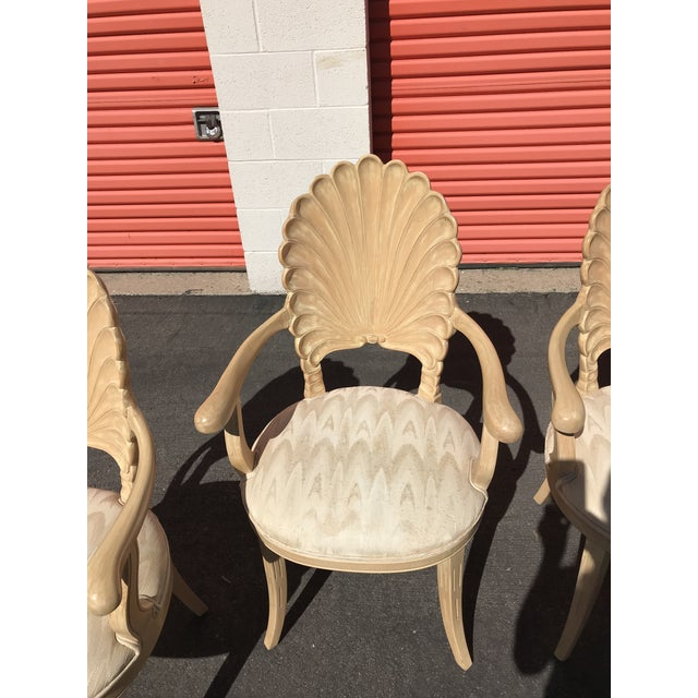 Grotto Italian Carved Wood Seashell Shell Back Dining Chair For Sale - Image 4 of 12