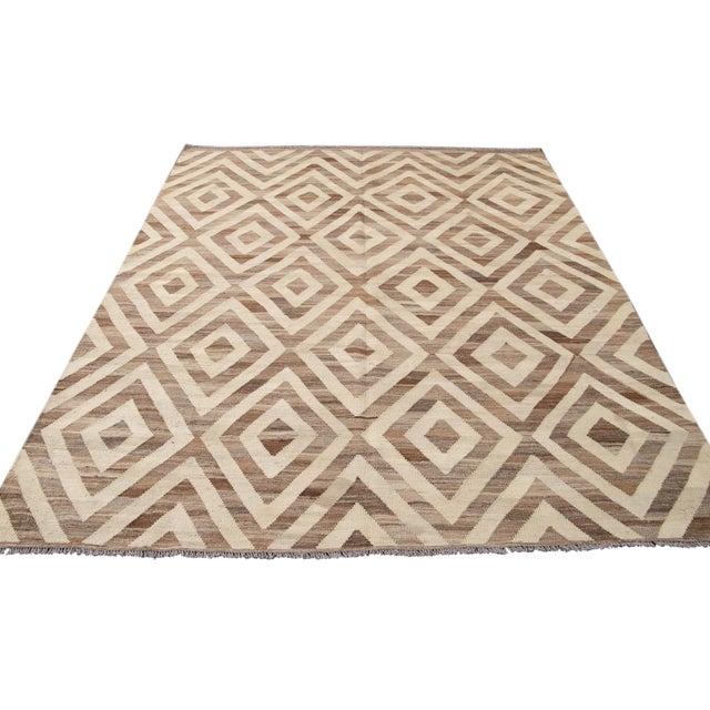 21st Century Modern Kilim Wool Rug For Sale - Image 10 of 12