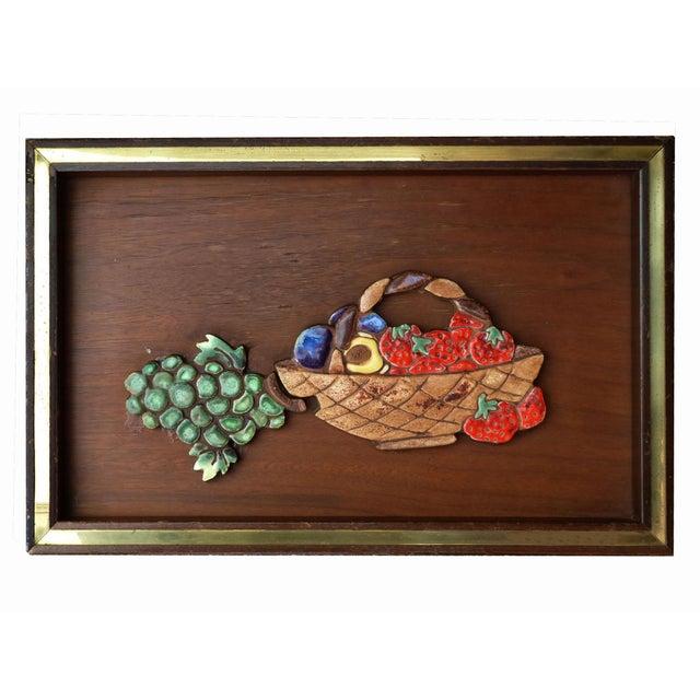 Ceramic on Wood Still Life Wall Art - Image 2 of 5