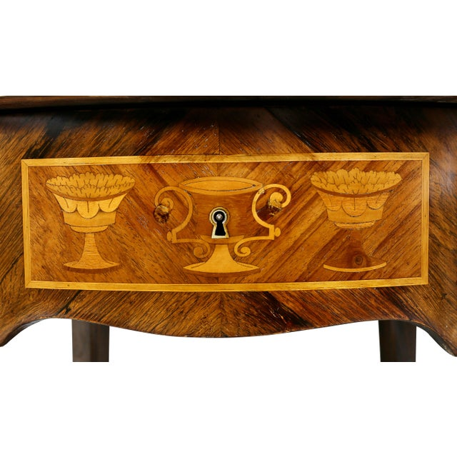 Late 19th Century Louis XVI Style Marquetry Table A' Ecrire For Sale - Image 5 of 13