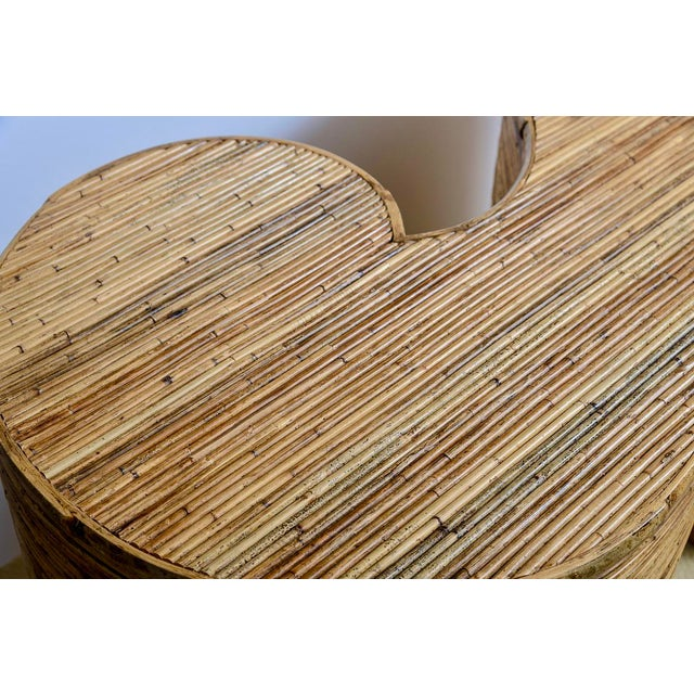 """Italian Gabriella Crespi Style, Pencil Bamboo """"S"""" Shape Console Table,, C.1970 For Sale In West Palm - Image 6 of 13"""
