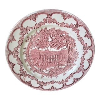 Vintage Chatsworth House Derbyshire English Plate For Sale