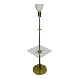 1960s Mid-Century Modern Stiffel Starburst Brass Torchiere Floor Lamp For Sale