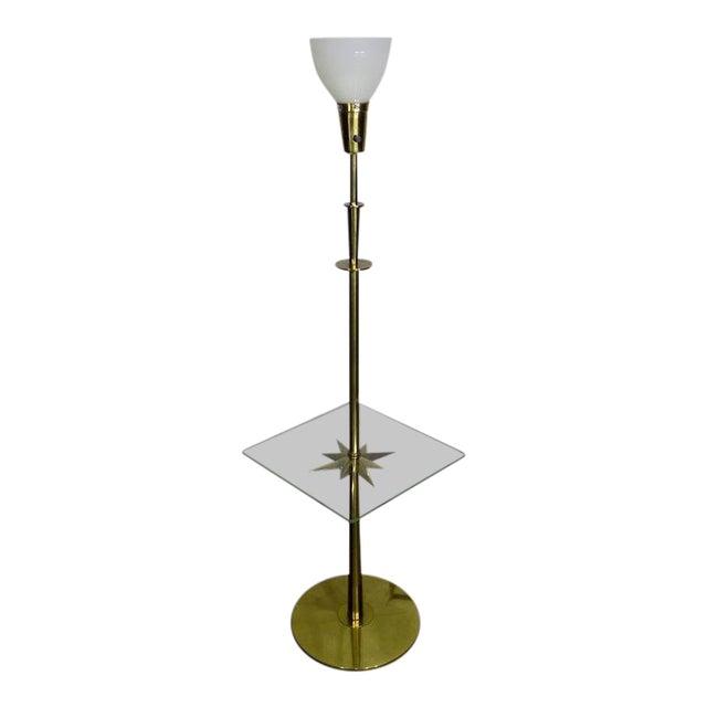 1960s Mid-Century Modern Stiffel Starburst Brass Torchiere Floor Lamp For Sale