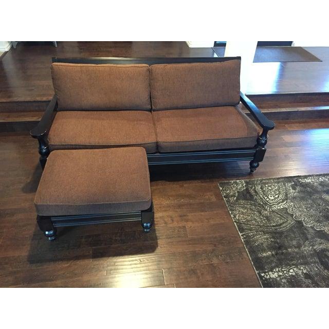 Mccreary Modern Inc Wood Frame Couch Amp Ottoman Chairish