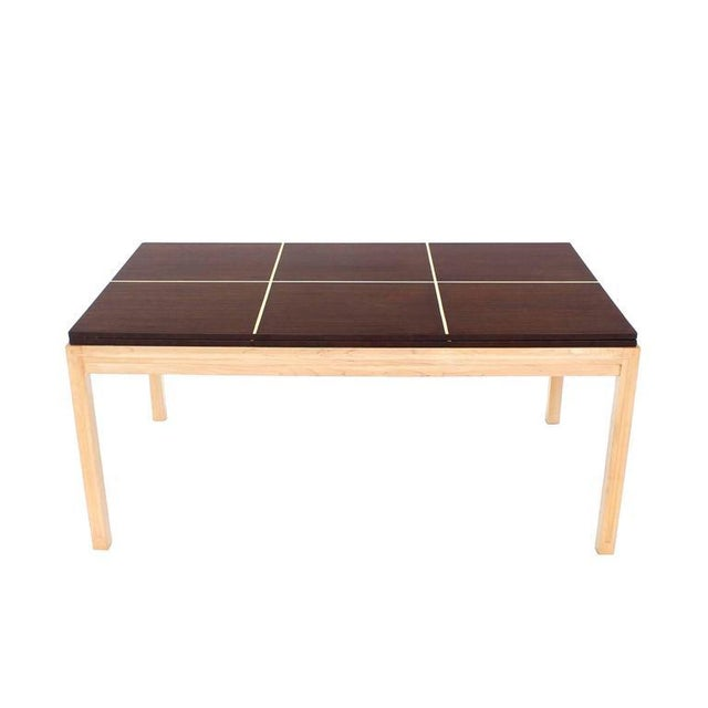 Mid-Century Modern Tommy Parzinger Dining Table with Two Leaves For Sale - Image 3 of 9