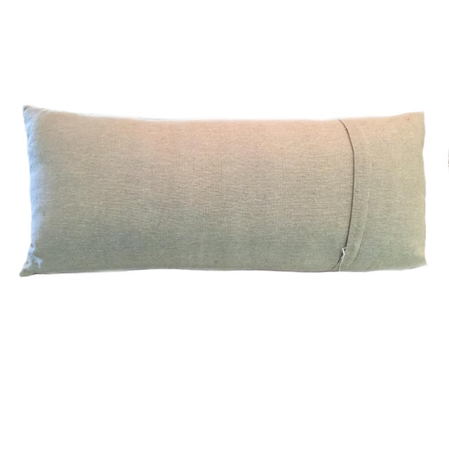 Tribal Swati Embroidered Lumbar Pillow For Sale - Image 3 of 5