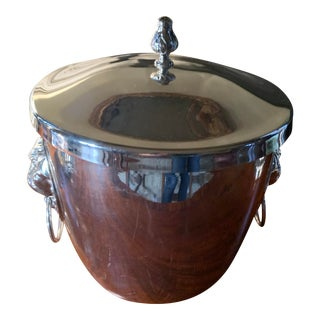 Italian Silver Ice Bucket For Sale