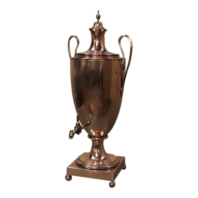 19th Century Copper & Brass Tea Server For Sale