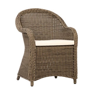 Collins Outdoor Faux Rattan Chair For Sale