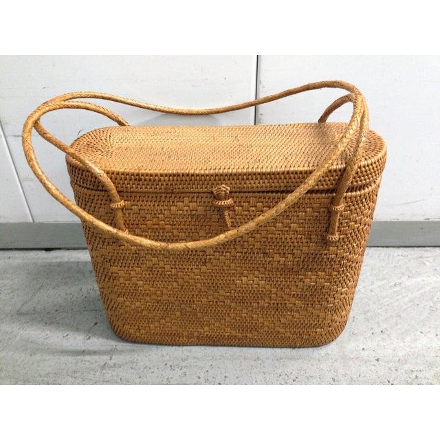 Vintage Woven Basket Purse - Image 2 of 5